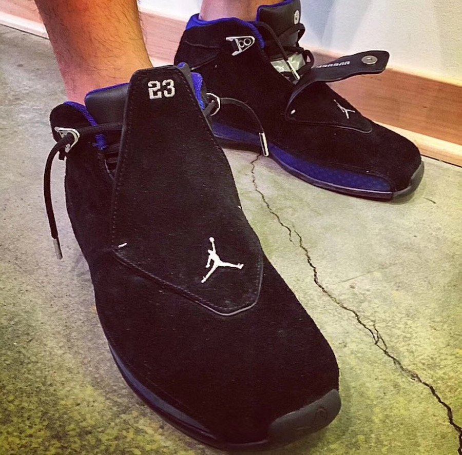 2c268542a940 Air Jordan 18 Black Sport Royal AA2494-007 Release Date