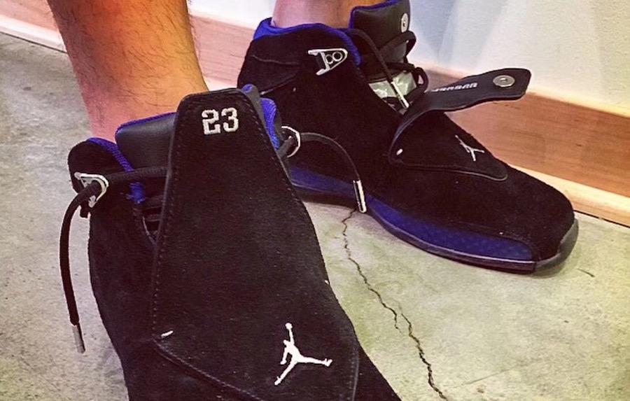 Air Jordan 18 Sport Royal Black 2018 Retro On Feet