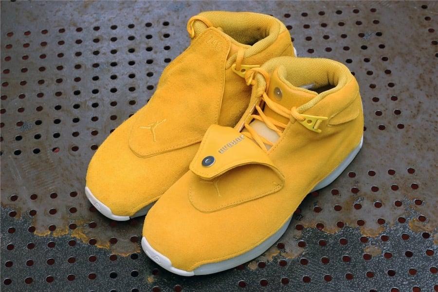 Air Jordan 18 Yellow Suede AA2494-701 Release Date