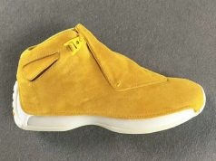 Air Jordan 18 Yellow Suede AA2494-701 Yellow Ochre Sail