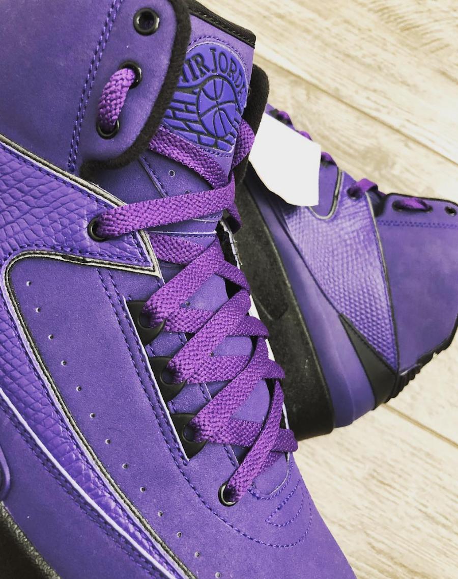 Air Jordan 2 Purple Rain Sample