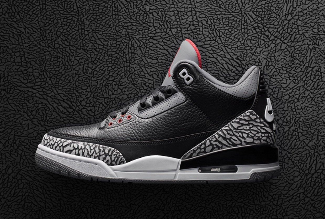 Air Jordan 3 Black Cement Restock
