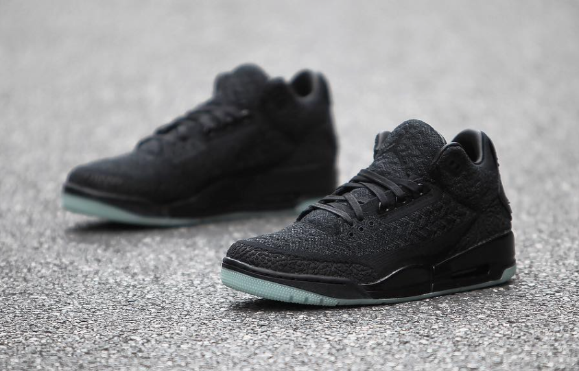 detailed look b452e b0263 Air Jordan 3 Flyknit Black AQ1005-001 Release Info ...
