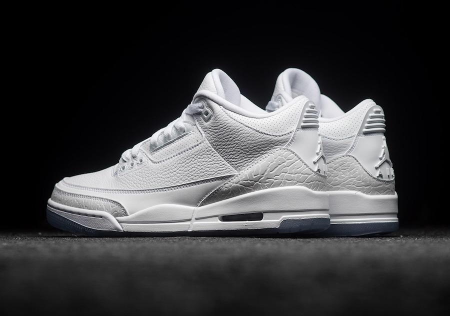 177db77994f Air Jordan 3 Pure White 136064-111 Release Date