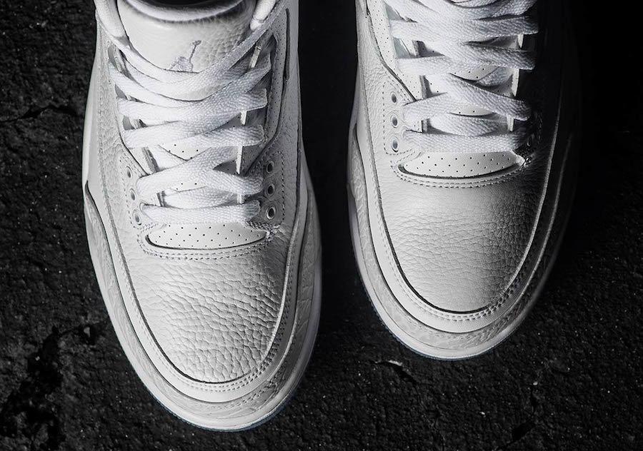 Air Jordan 3 Pure White Triple White 136064-111
