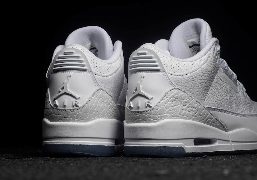 brand new b3b06 ee4a9 Air Jordan 3 Pure White Triple White 136064-111