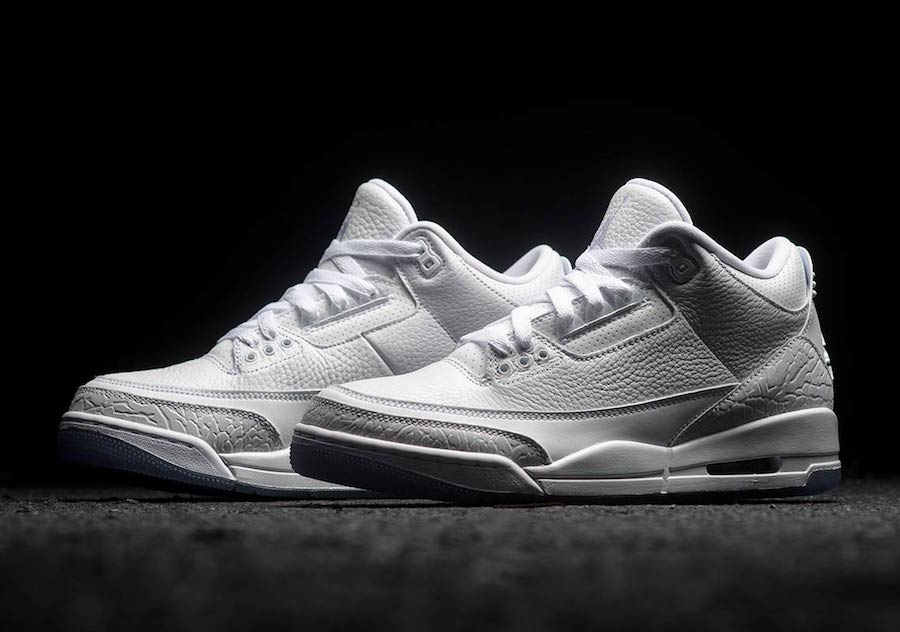 new product 2fb1b eb36d Air Jordan 3 Pure White 136064-111 Release Date | SneakerFiles