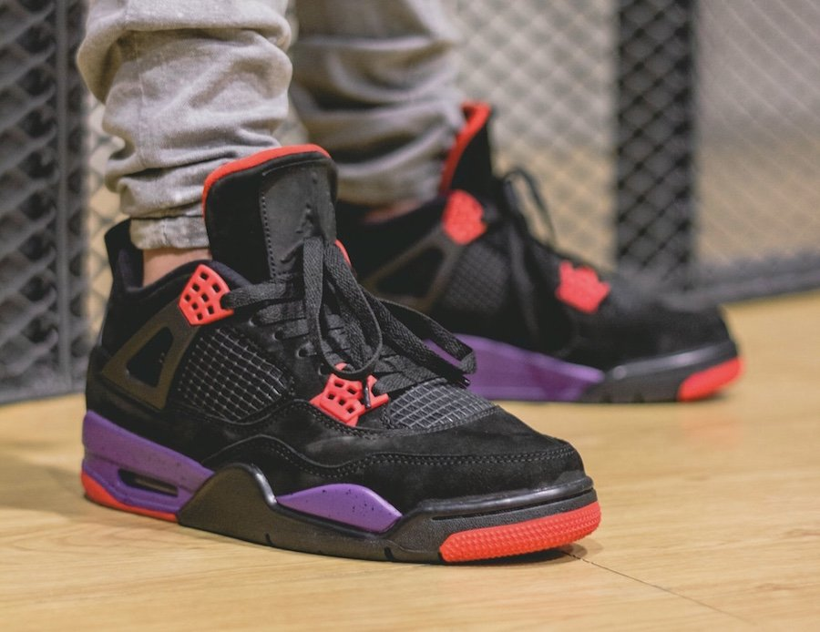 buy popular 0dc27 bdd3c Air Jordan 4 Raptors On Feet