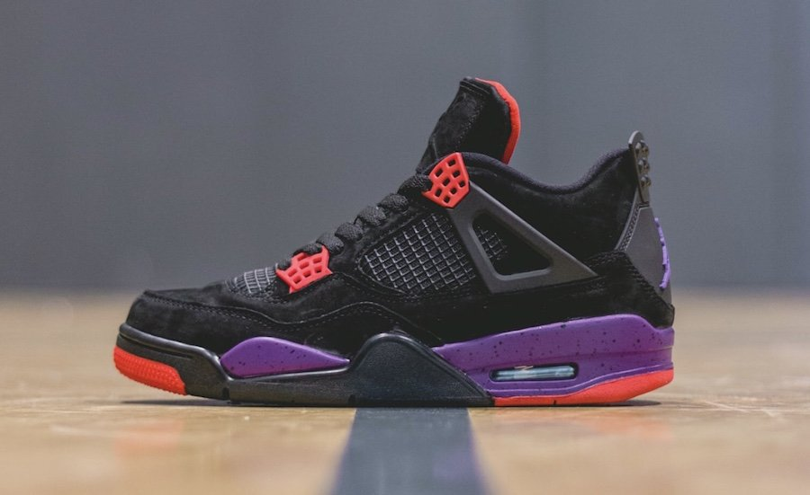 Air Jordan 4 Raptors On Feet