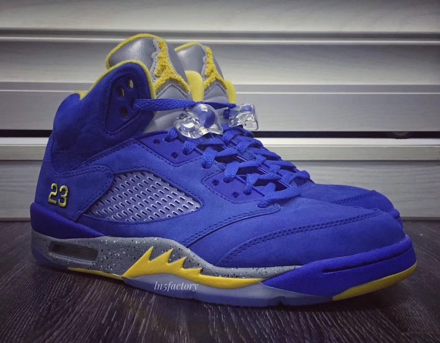 uk availability 77031 cc8e6 Air Jordan 5 JSP Laney Varsity Royal Light Charcoal Varsity Maize CD2720-400  Release Date