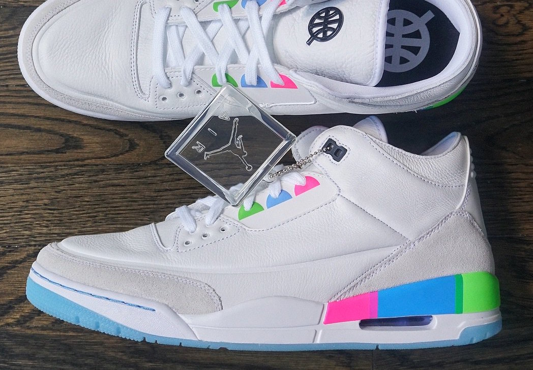 Friends Family Air Jordan 3 Quai 54 White