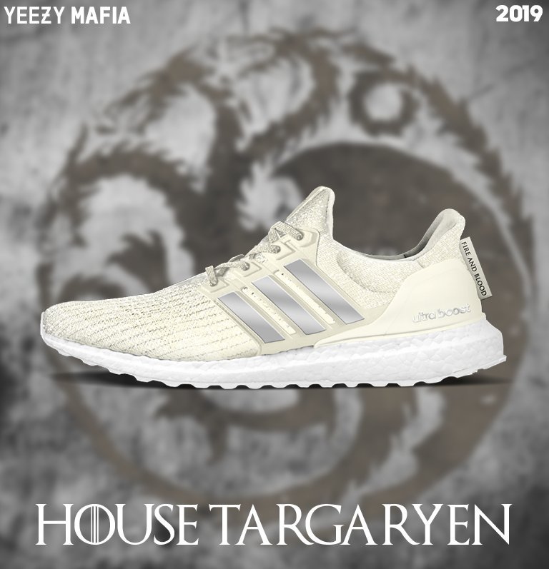 Game of Thrones adidas Ultra Boost House Targaryen