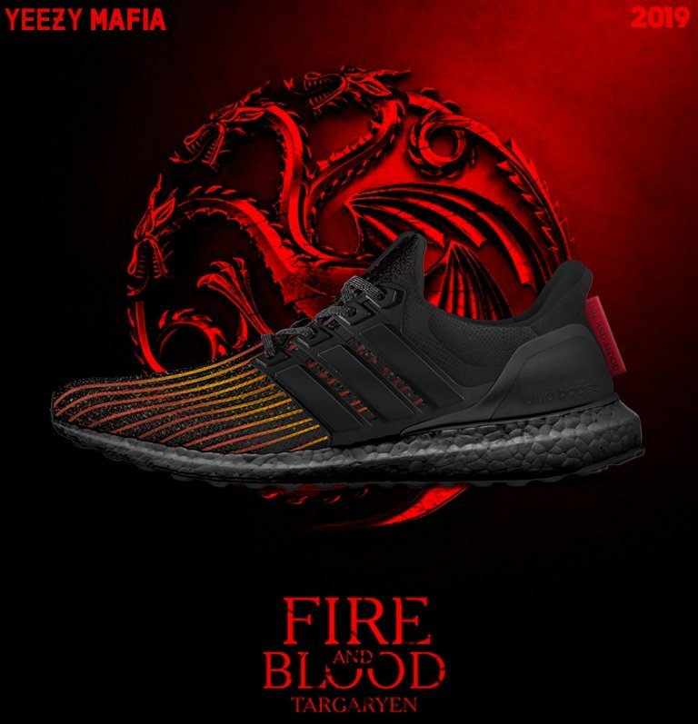 Game of Thrones adidas Ultra Boost House Targaryen Dragons