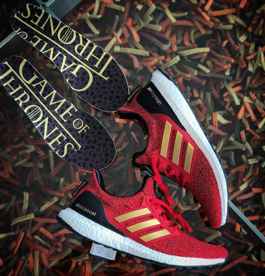 c11868d66b6d7 adidas Ultra Boost Game of Thrones House Lannister EE3710 Release ...