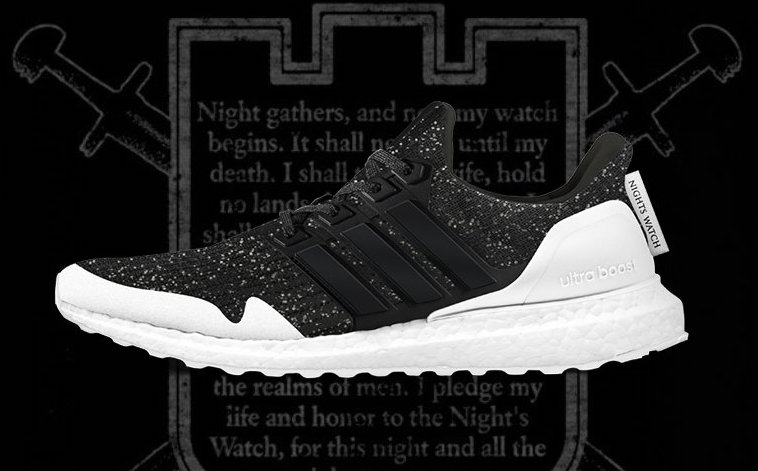 Game of Thrones adidas Ultra Boost Nights Watch