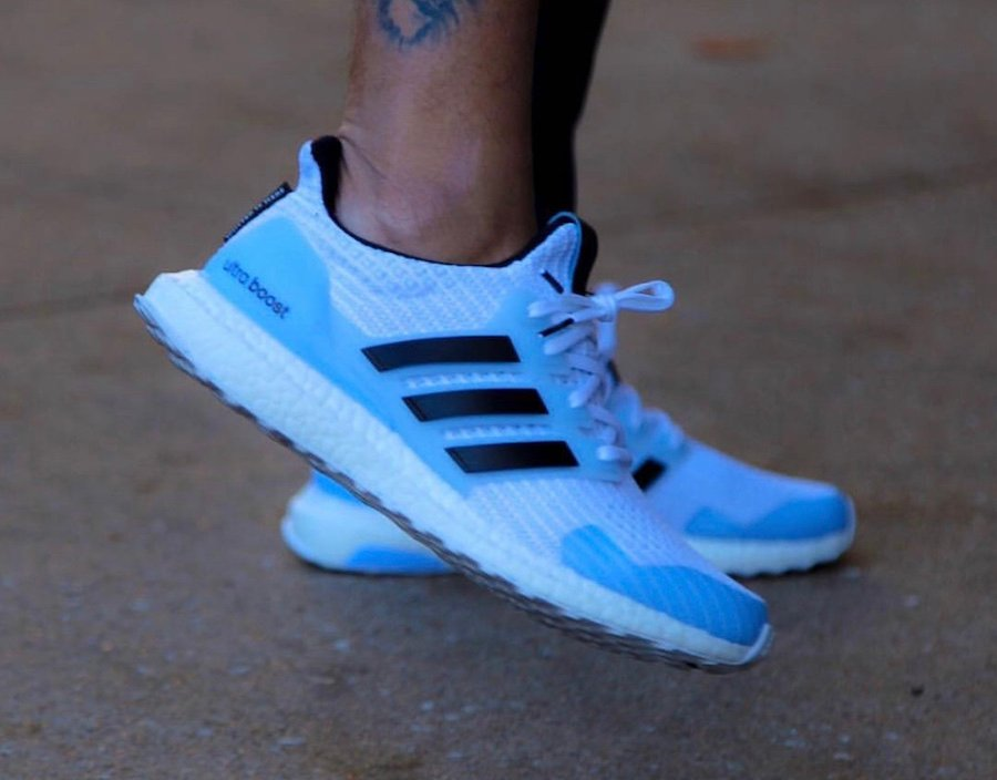 Game of Thrones adidas Ultra Boost White Walkers On Feet