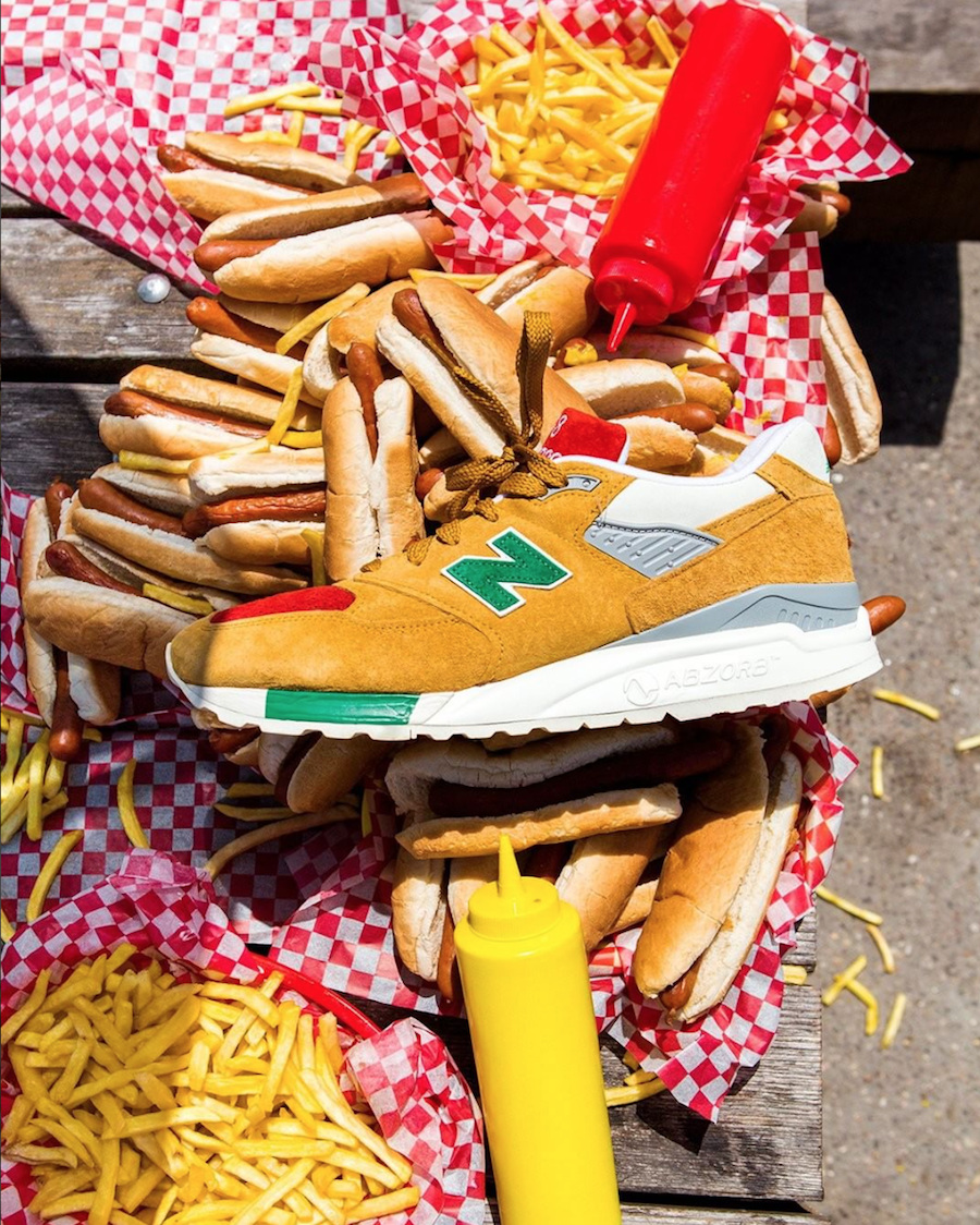 J.Crew New Balance 998 Hot Dog Condiments