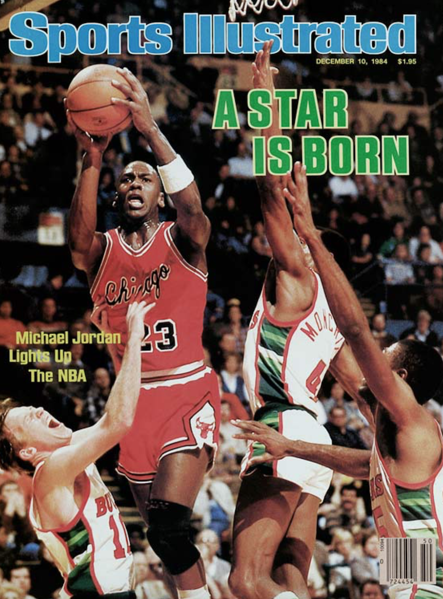 Michael Jordan Sports Illustrated Cover Rookie Air Jordan 1