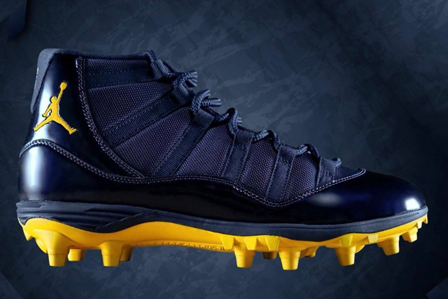 Michigan Air Jordan 11 Cleats