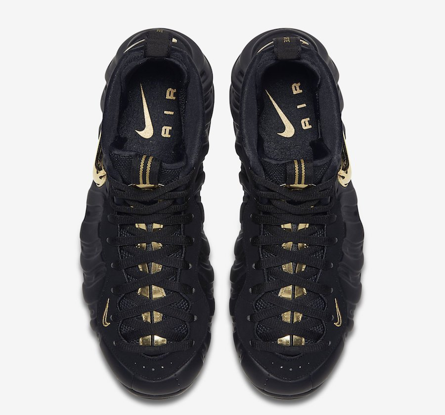 Nike Air Foamposite Pro Black Metallic Gold 624041-009