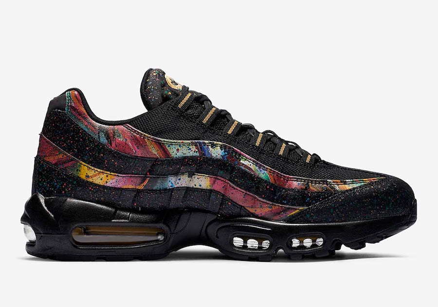 Nike Air Max 95 Black Gold Cobalt Blaze AT6142-001