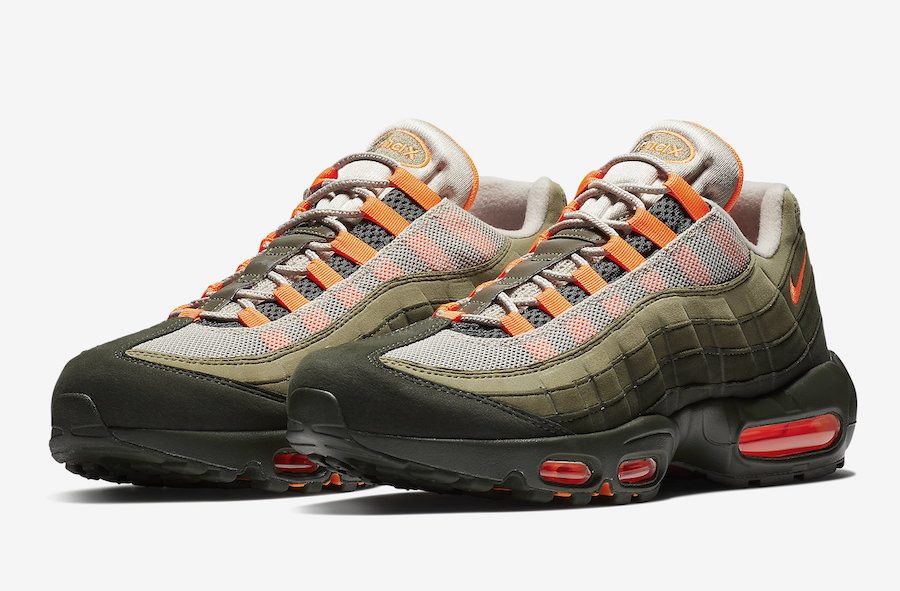 save off 25441 e79d2 Nike Air Max 95 Neutral Olive Total Orange AT2865-200