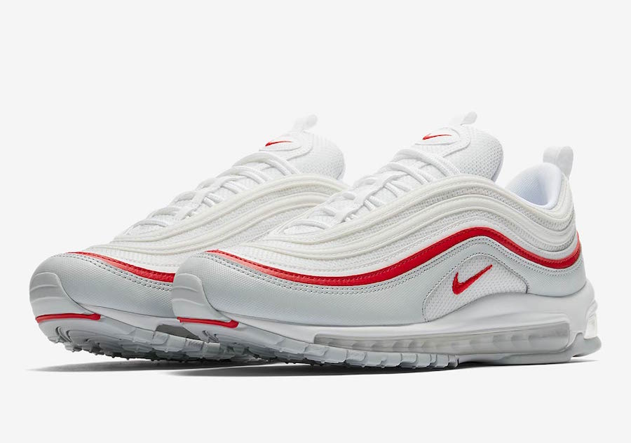 sports shoes 197a5 ebcc3 Nike Air Max 97 White Red AR5531-002 Release Date | SneakerFiles