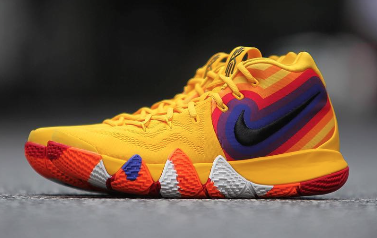 Nike Kyrie 4 Starburst Yellow Orange Purple Red