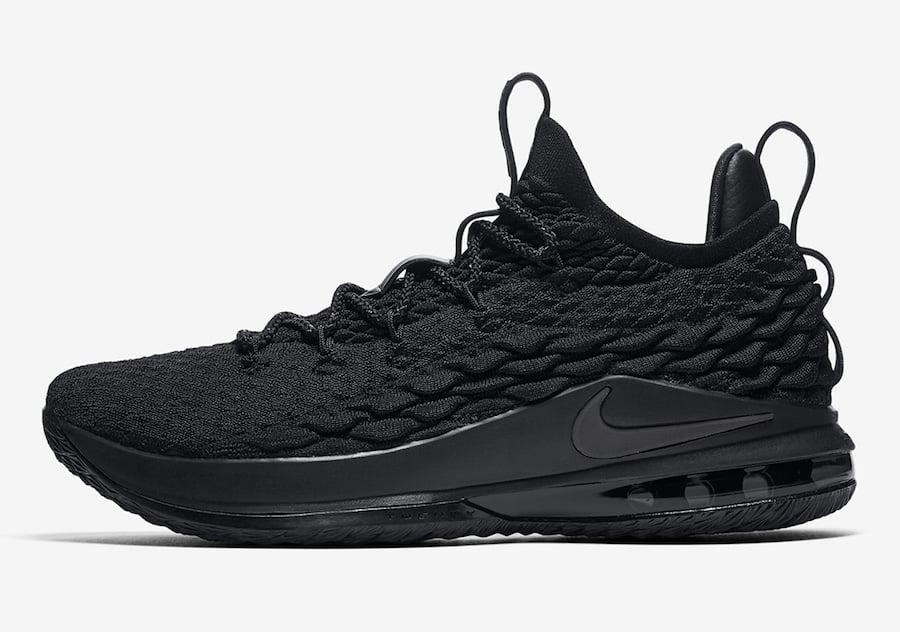 c3eede29b42ff Nike LeBron 15 Low Triple Black AO1755-004 Release Info