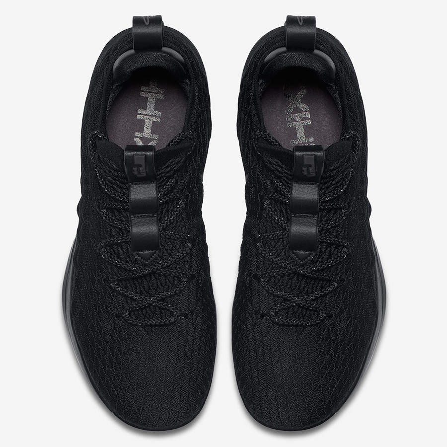 Nike LeBron 15 Low Triple Black AO1755-004