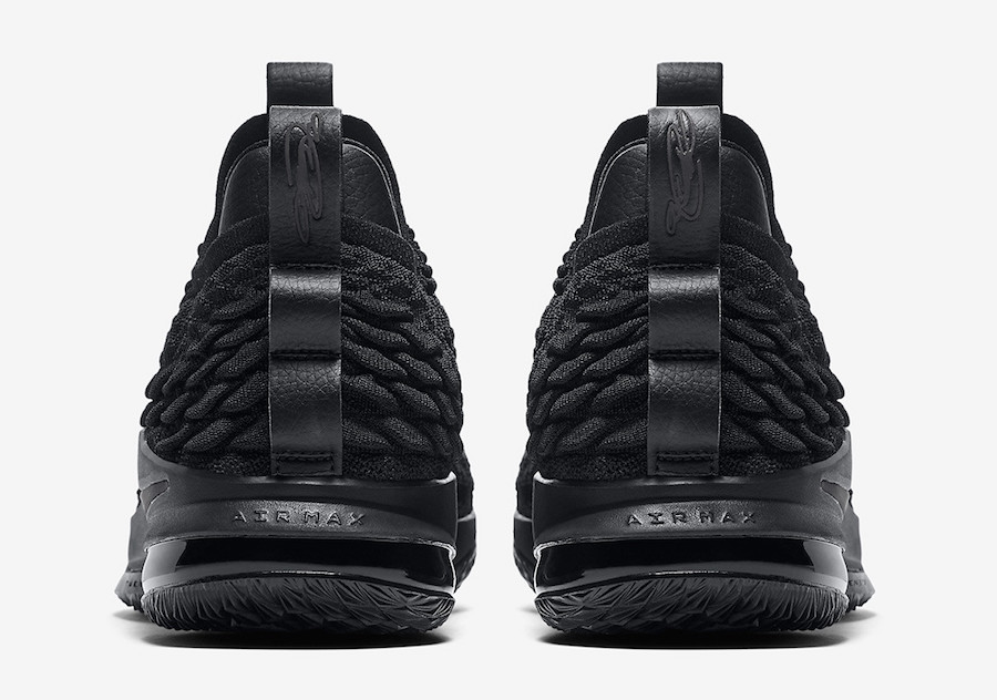brand new 9897c 4d6c0 Nike LeBron 15 Low Triple Black AO1755-004 Release Info ...
