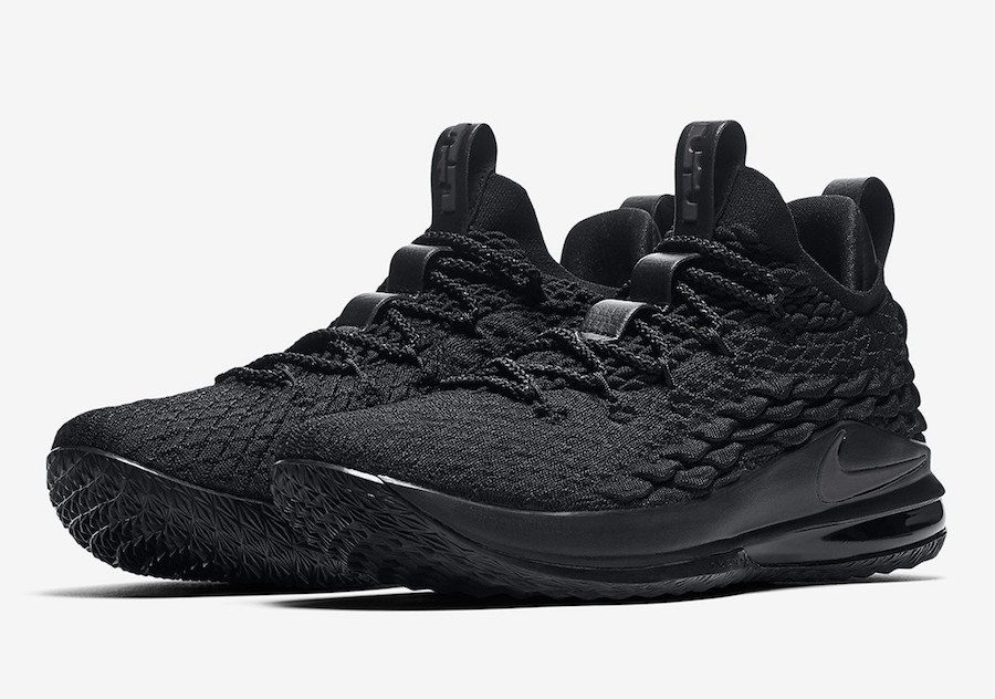 Nike LeBron 15 Low Triple Black AO1755-004 Release Info  cd4d562def