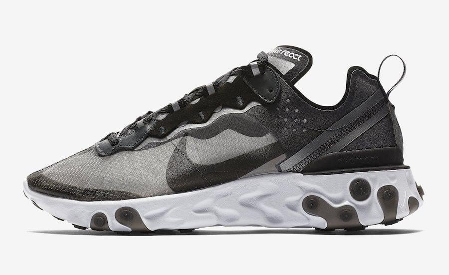 Nike React Element 87 Black White AQ1090-001
