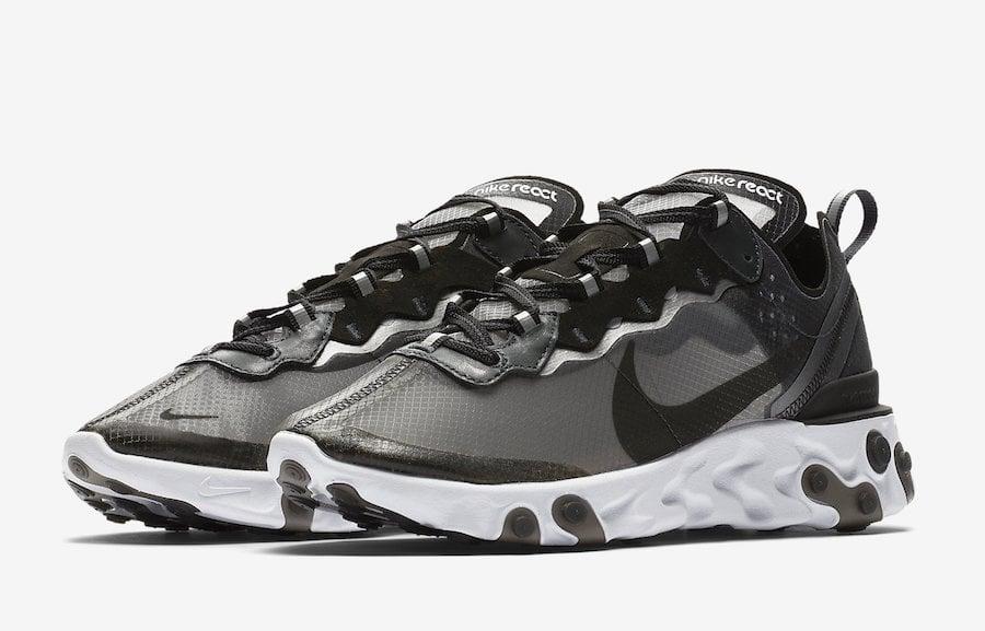 Nike React Element 87 Black White AQ1090 001 | SneakerFiles