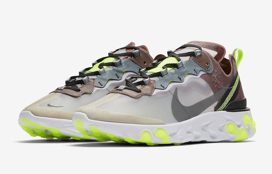Nike React Element 87 Desert Sand Cool Grey Smokey Mauve AQ1090-002