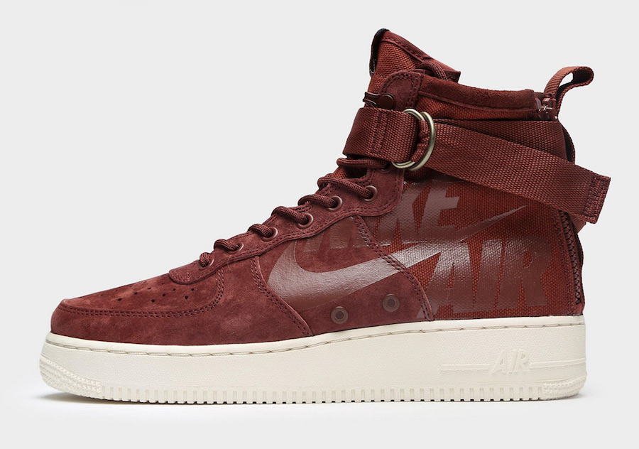 Nike SF-AF1 Mid Burgundy Reddish Brown