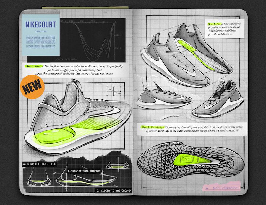 NikeCourt Air Zoom Zero Sketch Technology