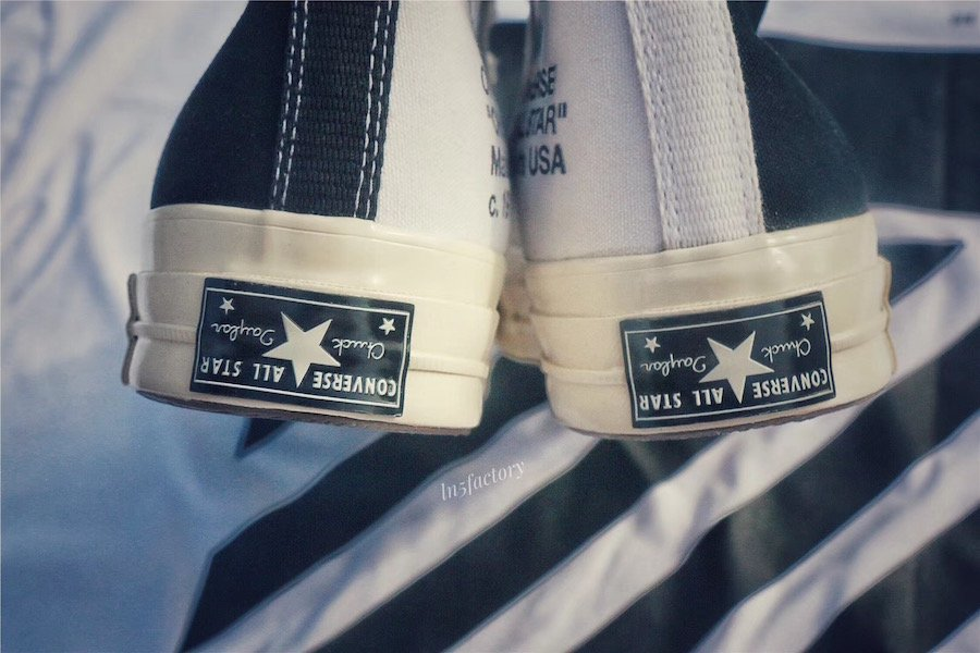 Off-White Converse Chuck Taylors Black White