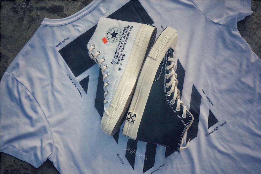 Off-White Converse Chuck Taylors Black White