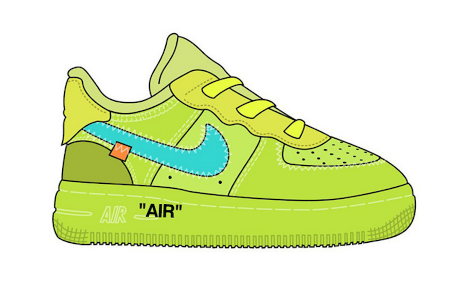 Off-White Nike Air Force 1 Low Kids Sizes