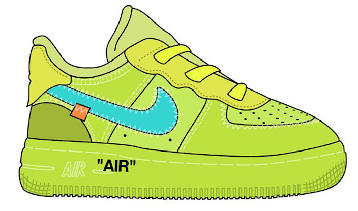 Off-White Nike Air Force 1 Low Volt Kids Sizes