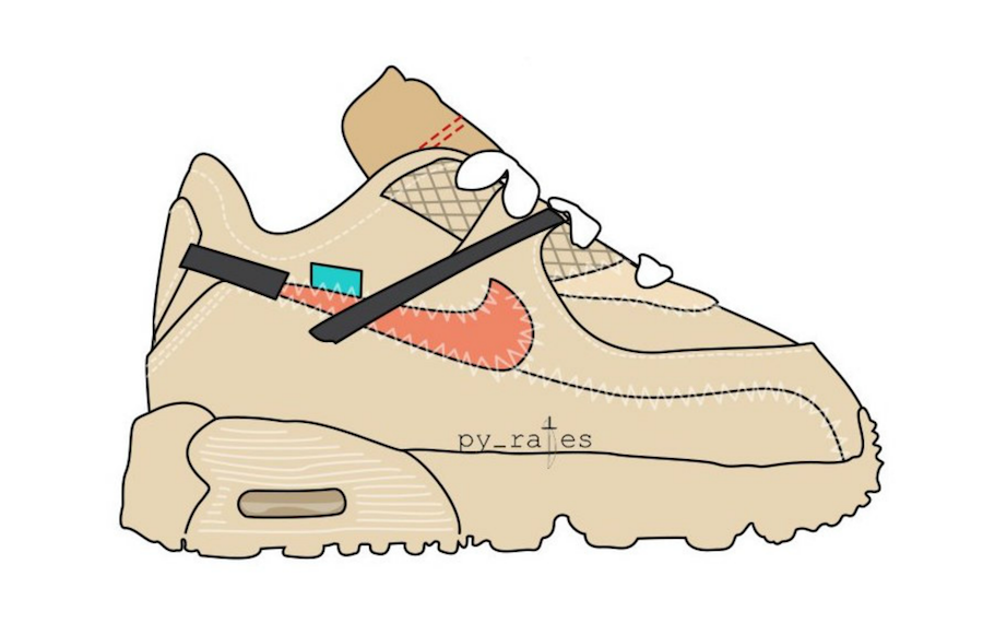 Off-White Nike Air Max 90 TD Toddler Desert Ore