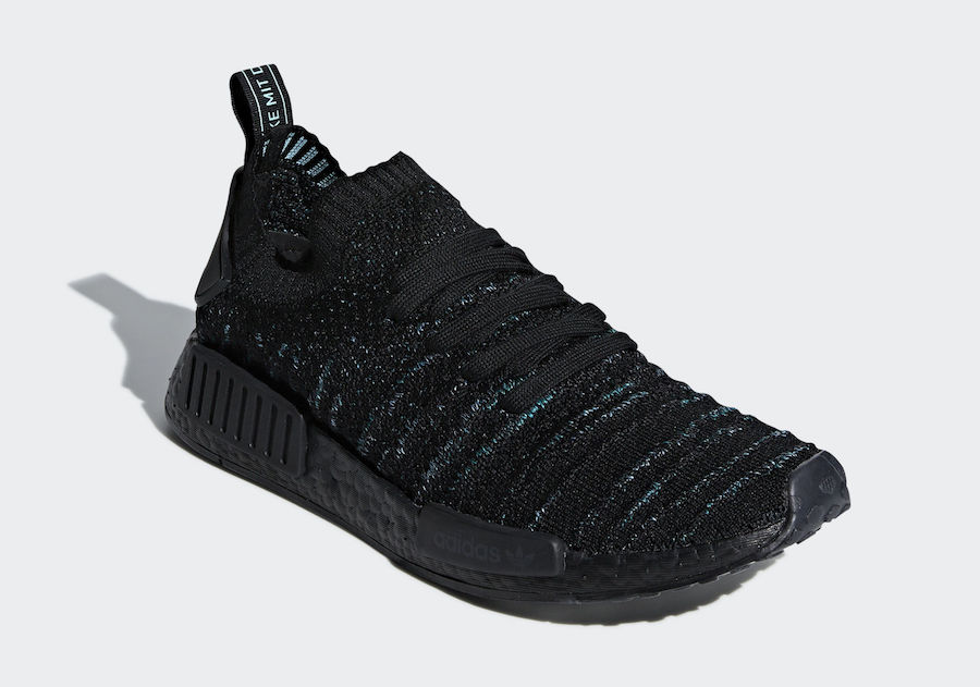 uk availability 2b501 60d58 Parley adidas NMD R1 STLT Core Black AQ0943