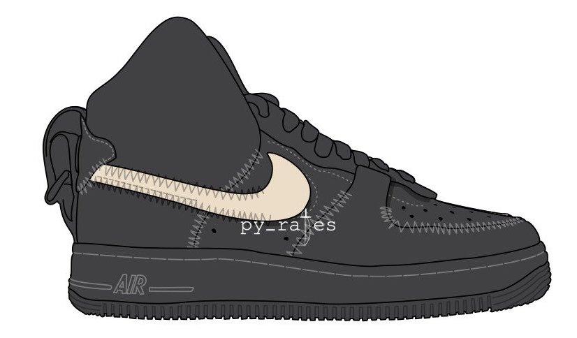 PSNY Nike Air Force 1 High Black Sail Black