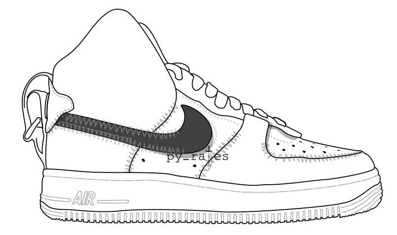 PSNY Nike Air Force 1 High White White Black White