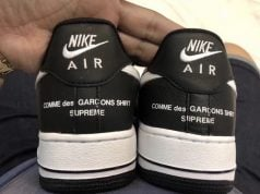 Supreme Comme des Garcons Nike Air Force 1 Low Black 2018 Release Date