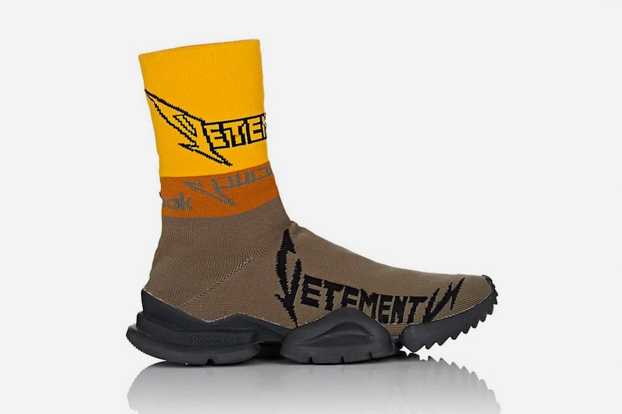 Vetements Reebok Sock Runner Heavy Metal