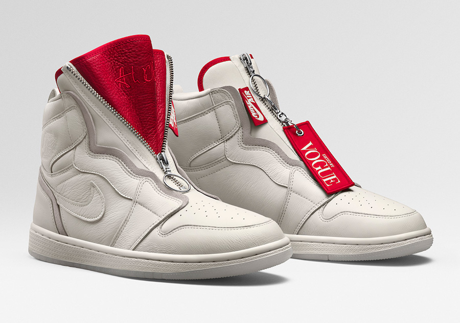 Vogue Air Jordan 1 High Zip AWOK Sail BQ0864-106