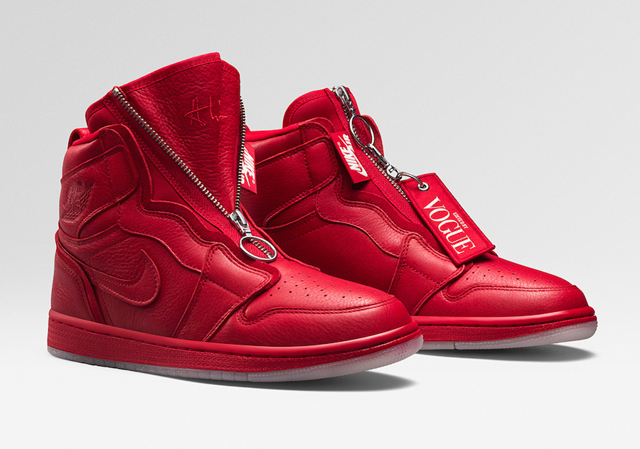 Vogue Air Jordan 1 High Zip AWOK University Red BQ0864-601