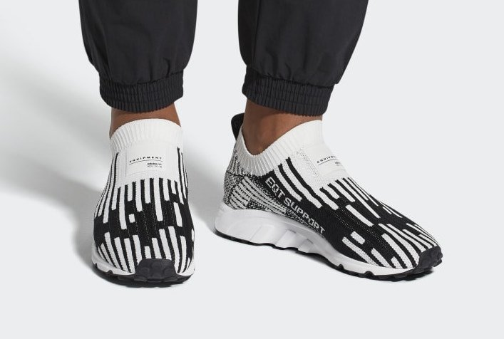 adidas EQT Support Sock Primeknit White Black B37524